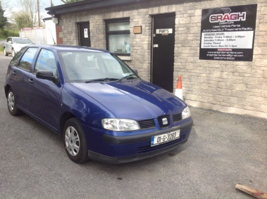 blue 5 door 0 9l 2001 seat ibiza 1 0 stella ballybay monaghan ireland. Black Bedroom Furniture Sets. Home Design Ideas