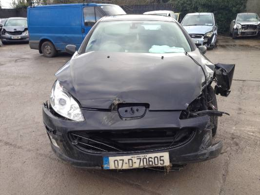 black 4 door 1 6l 2007 peugeot 407 st 1 6 hdi solaire parts ashville rh autobreak ie