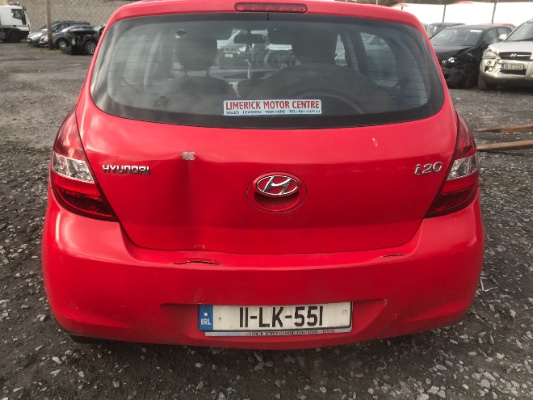 Red 5 door 1 3L 2011 HYUNDAI I20 Classic 5DR Parts Ashville